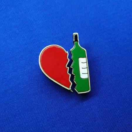 Значок Люблю винишко двойной
