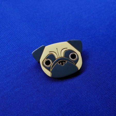 Значок Мопсик голова