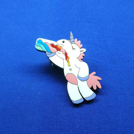 Значок Единорог бухой (Unicorn)