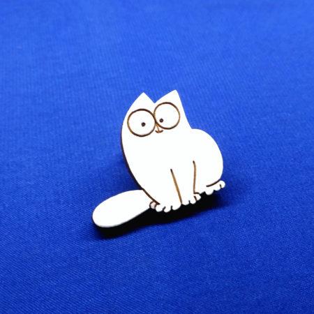 Значок кот Саймон сидит (Simon's Cat)