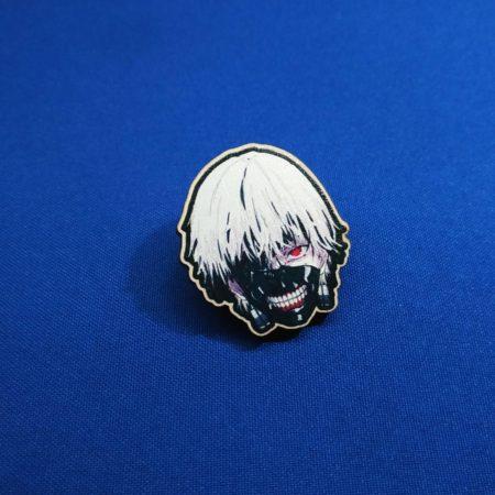 Значок Токийский гуль Канеки Кен маска (Tokyo Ghoul)